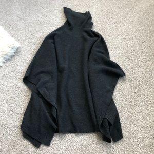 Cashmere/ wool poncho